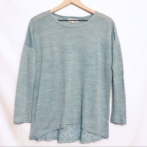Altar'd State || Teal Lace Detail Top